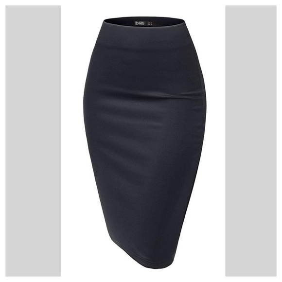 d7a59651ca Dark Navy blue scuba pencil skirt XL, no slit. M_5ac0dfe485e605df26adf161